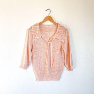 Vintage 50s Blush Pink Sweater